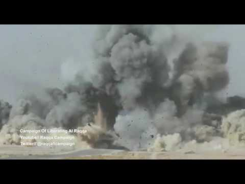 Destruction of a Suicide Vehicle in ISIS